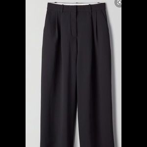 Wilfred/ Aritzia high-waisted pleated trousers